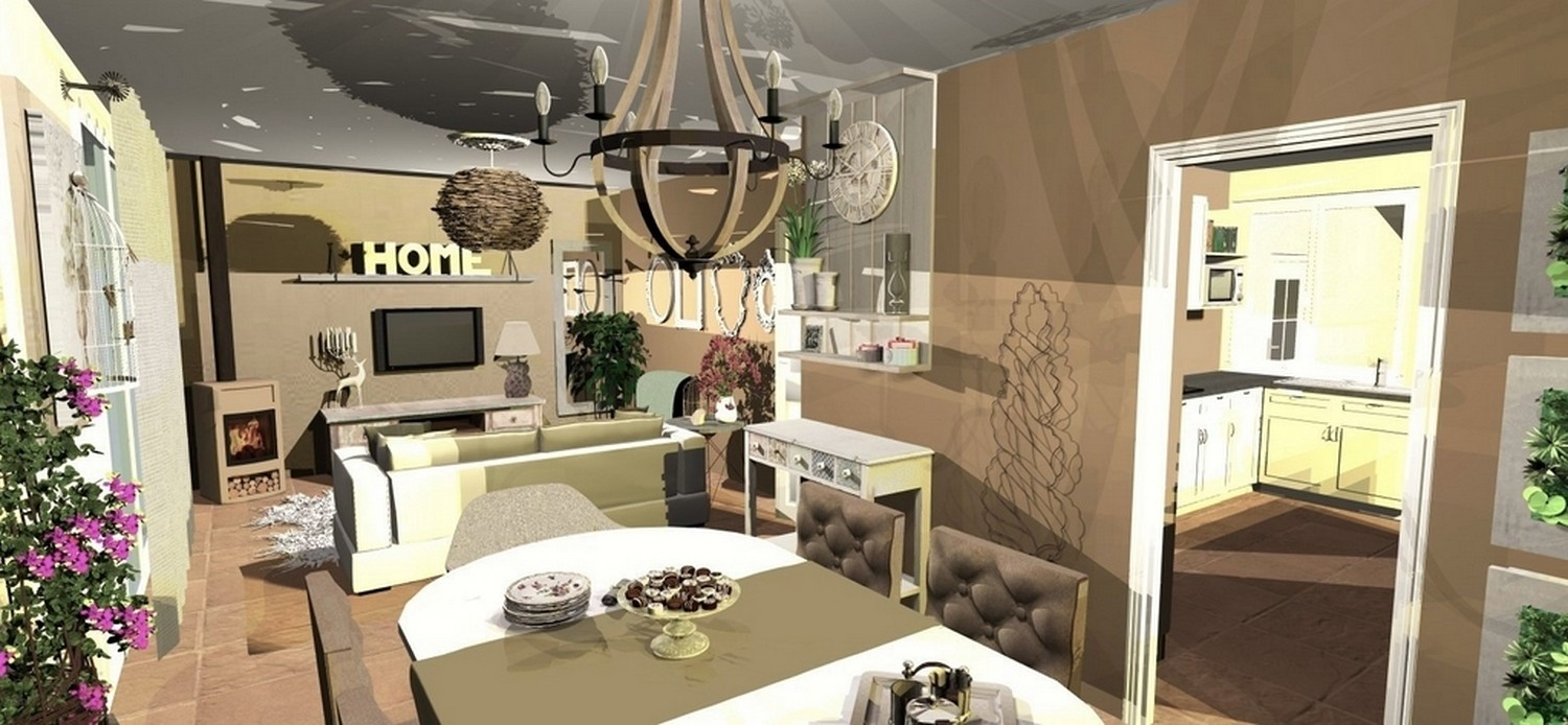 Deco salon nature chic for Amenagement de salle a manger
